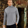 UltraClub Adult Striped 1/4-Zip Pullover